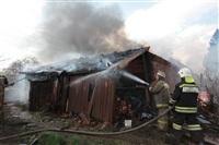 На Калужском шоссе загорелся жилой дом, Фото: 16