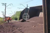 В Тульской области грузовой поезд сошел с рельсов, Фото: 18