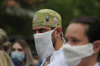 В Туле сотрудники МЧС эвакуировали госпитали госпиталь для больных коронавирусом, Фото: 7