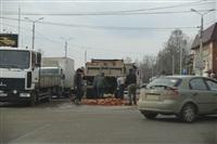 На Рязанской на дорогу рассыпалась гора кирпича, Фото: 6