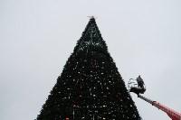 Завершается установка главной тульской городской ёлки , Фото: 3