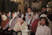 Пасхальная служба в Успенском соборе. 20.04.2014, Фото: 16