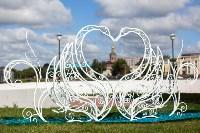 Кованая композиция «Лебеди» у ротонды, Фото: 4