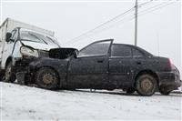 В лобовом ДТП на Восточном обводе ранены два человека , Фото: 7