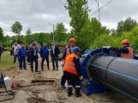 В Туле меняют аварийный участок трубы, из-за которого отключали воду в Пролетарском округе, Фото: 10