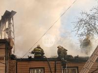 На ул. Баженова в Туле крупный пожар уничтожил жилой дом, Фото: 17