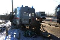 """На трассе М2 автомобиль """"скорой"""" столкнулся с автовозом., Фото: 6"""