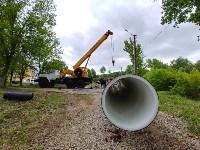 В Туле меняют аварийный участок трубы, из-за которого отключали воду в Пролетарском округе, Фото: 9