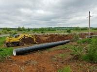 В Туле меняют аварийный участок трубы, из-за которого отключали воду в Пролетарском округе, Фото: 16