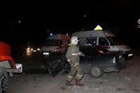 На ул. Металлургов в Туле лоб в лоб столкнулись две Daewoo, Фото: 1