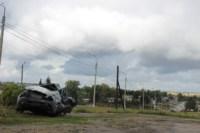 Возле поста ДПС в Плавске столкнулись три иномарки и фура, Фото: 4