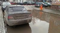 В Туле у дома на ул. Литейная, 3 перекрыта дождевая канализация, Фото: 2