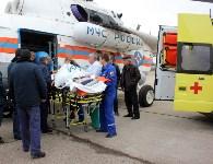 Транспортировка пострадавшего санитарным рейсом МЧС, Фото: 7