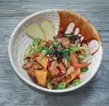 Салат в азиатском стиле с креветками, куриным филе и шиитаке, Фото: 35