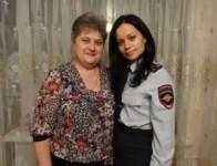 старший лейтенант полиции Козлова Юлия Михайловна с мамой Ольгой Алексеевной. Тульская область, Фото: 8