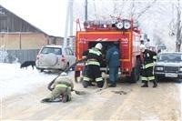 Пожар в жилом бараке, Щекино. 23 января 2014, Фото: 1