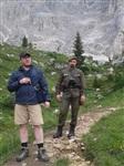 Денис Садовников и Михаил Смирнов на перевале. Позади виден Австро-Венгерский форт  Первой мировой войны., Фото: 11