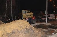 Глубина провала на Одоевском шоссе в Туле - примерно 3 метра, Фото: 2