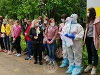 В Туле сотрудники МЧС эвакуировали госпитали госпиталь для больных коронавирусом, Фото: 70