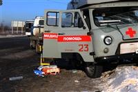 """На трассе М2 автомобиль """"скорой"""" столкнулся с автовозом., Фото: 13"""