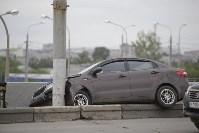"""""""Киа"""" врезалась в столб на Пролетарском мосту, Фото: 8"""