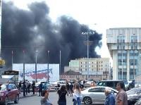 Загорелся недостроенный ТЦ на Красноармейском проспекте, Фото: 11