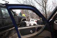 В Туле опрокинувшийся в кювет BMW вытаскивали три джипа, Фото: 14