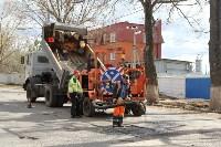 В Туле проводят аварийно-восстановительный ремонт дорог методом пневмонабрызга, Фото: 4