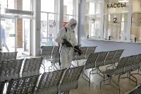 Тульские спасатели продезинфицировали автовокзал «Восточный», Фото: 41