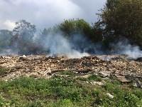 Горит строительный мусор в Узловском районе, Фото: 7