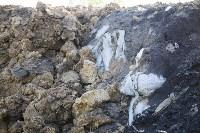 Незаконную свалку на берегу Тулицы спрятали под грудой земли, Фото: 18