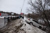 В Туле опрокинувшийся в кювет BMW вытаскивали три джипа, Фото: 34