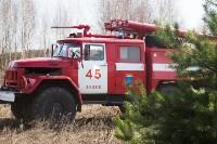 В Белевском районе провели учения по тушению лесных пожаров, Фото: 11