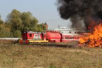 Горящий поезд: учения МЧС 23 сентября , Фото: 1