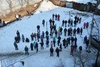 У дома, поврежденного взрывом в Ясногорске, демонтировали опасный угол стены, Фото: 44