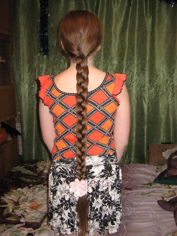 Надежда-просто мне нравятся длинные волосы! длина-1м .18см