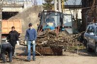 Генеральную уборку в Туле на Пролетарской набережной провели работники КБП, Фото: 19
