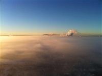 Необычные клубы дыма над заводом. Косая Гора, 21 января 2014, Фото: 8