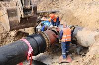 Как ведется монтаж водовода, питающего водой Пролетарский округ Тулы. Фото, Фото: 25