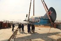 Установка копии Ла-5ФН на несущую опору мемориала «Защитникам неба Отечества» , Фото: 8