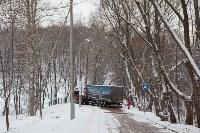 В Туле возле Платоновского парка застряла фура, Фото: 1