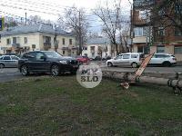 В Туле внедорожник BMW повалил столб ЛЭП, Фото: 6