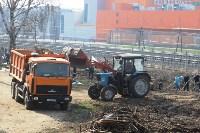 Генеральную уборку в Туле на Пролетарской набережной провели работники КБП, Фото: 28