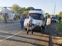 В Тульской области фура влетела в автобус: перекрыта трасса М-2, Фото: 4