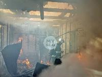 На ул. Баженова в Туле крупный пожар уничтожил жилой дом, Фото: 21