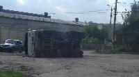 В Алексине перевернулся грузовик., Фото: 4