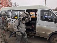 Сотрудники МЧС проводят дезинфекционные работы, Фото: 17