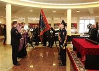 В Туле прошла церемония крепления к древку полотнища знамени регионального УМВД, Фото: 20