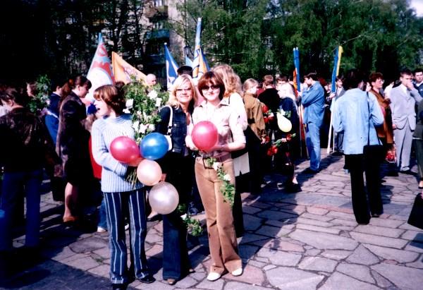 1 курс, праздничное шествие на День Победы