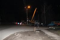 Глубина провала на Одоевском шоссе в Туле - примерно 3 метра, Фото: 1